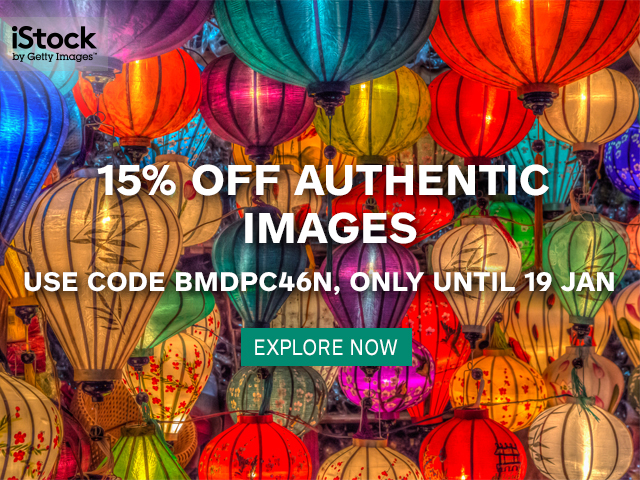 15% off authentic images