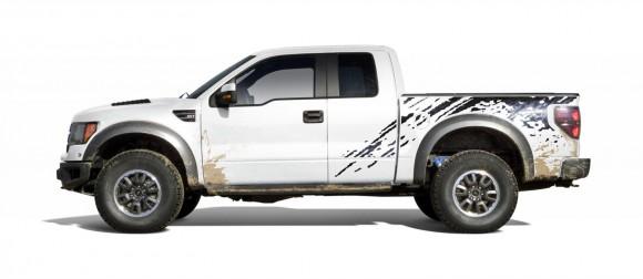 2010 Ford F 150 Svt Raptor Side White 580x252