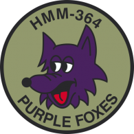 Logo of HMM-364 Purple Foxes