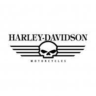 Harley Davidson Skull Brands of the World Download vector