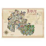 Logo of Jujuy Turismo Map Art