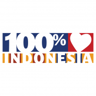 Logo of 100% Indonesia