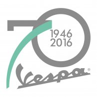 Logo of Vespa - 70º anniversary
