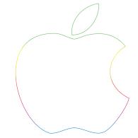 apple logo white vector. apple; logo of apple 30th anniversary white vector l