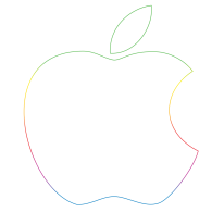 apple logo vector. logo of apple 30th anniversary vector