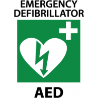 Red automated external defibrillator. Aed stock illustration.