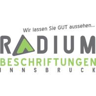 Logo of Radium Beschriftungen