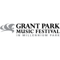 Logo of Grant Park Music Festival in Millennium Park